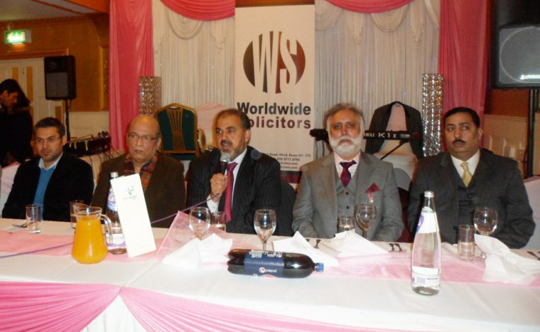 Lord Nazir Ahmed hosts reception for Pakistan Press Club UK