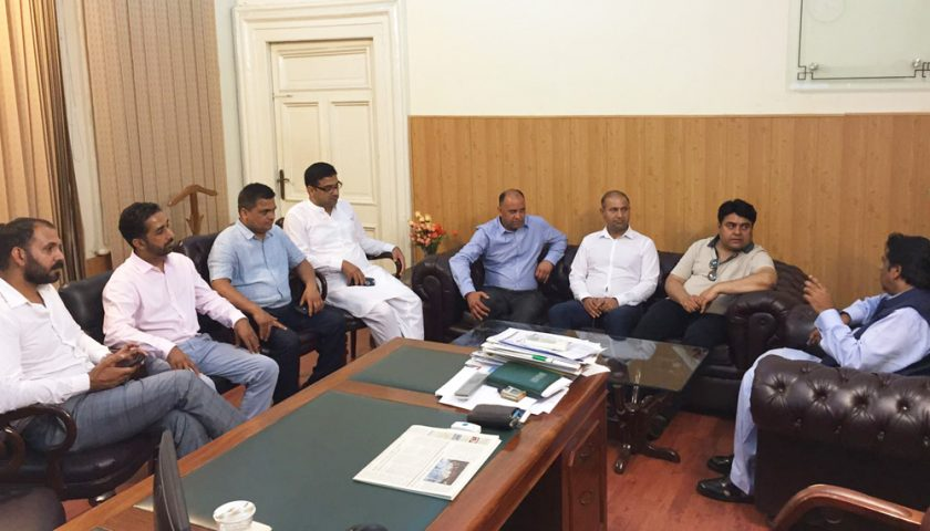 Press Club Delegation Meets Overseas Commissioner Afzaal Bhatti