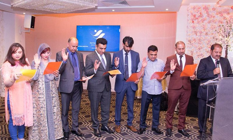 Oath Taking Ceremony of PPCUK 2017-18 held in London